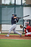 GCL Yankees East Miguel Torres (31) bats during a Gulf Coast League game against the GCL Phillies West on August 3, 2019 at the Carpenter Complex in Clearwater, Florida.  The GCL Phillies West defeated the GCL Yankees East 15-7 in a completion of a game that was originally started on July 26, 2019.  (Mike Janes/Four Seam Images)