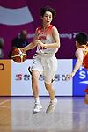 Saori Miyazaki (JPN), <br /> AUGUST 17, 2018 - Basketball : Women's Qualification round match between Japan 73-105 China at Gelora Bung Karno Basket Hall A during the 2018 Jakarta Palembang Asian Games in Jakarta, Indonesia. (Photo by MATSUO.K/AFLO SPORT)