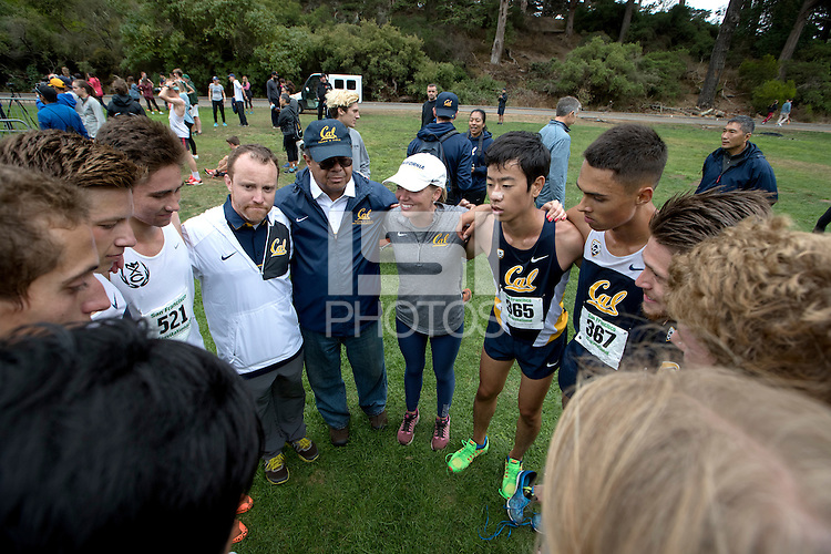 SAN FRANCISCO, CA., September 3, 2016,—Cal Men's Cross Country at the San Francisco Invitational at Golden Gate Park .