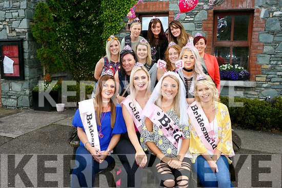 Jennifer Conway, Manor Village Tralee, who is  marring Jerry Brosnan in December having a Hen Party to Dingle with friends leaving Gally's Bar on Saturday