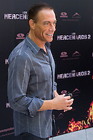 08.08.2012. Presentation at the Hotel Ritz in Madrid of the film ´The Expendables 2´. Directed by Simon West and starring by  Bruce Willis, Jean-Claude Van Damme  , Sylvester Stallone, Jason Statham, Jet Li, Dolph Lundgren, Randy Couture, Terry Crews and Liam Hemsworth. In the image Jean-Claude Van Damme  (Alterphotos/Marta Gonzalez) / NortePhoto.com<br />
