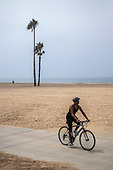 Bike Path in Playa Del Rey, Los Angeles, California, USA