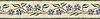 "7 7/8"" Morning Glory border, a hand-cut stone mosaic, shown in polished Verde Luna, Blue Macauba, Crema Valencia, Travertine Noce, Thassos (p), and tumbled Crema Marfil."