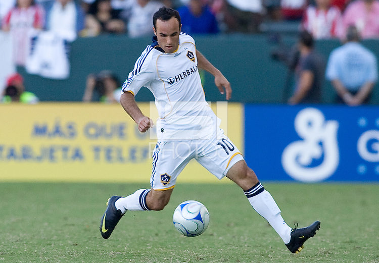 LA Galaxy forward Landon Donovan moves with the ball. The LA Galaxy and Chivas USA played to 2-2 draw during a MLS Western Conference playoff game at Home Depot Center stadium in Carson, California on Sunday November 1, 2009...