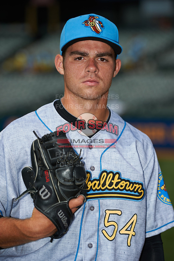 Reading Fightin Phils pitcher Jesse Biddle #54 poses for a photo before a game against the Trenton Thunder on July 8, 2013 at Arm & Hammer Park in Trenton, New Jersey.  Trenton defeated Reading 10-6.  (Mike Janes/Four Seam Images)