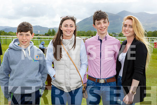Philip Burns, Fiona Glynn, John Mulvihill and Sarah Murphy Listowel at  the Killarney races on Sunday