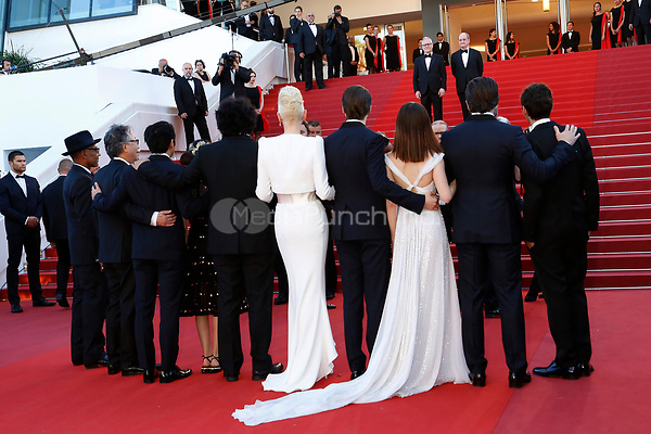 """The cast of Okja at the """"Okja"""" premiere during the 70th Cannes Film Festival at the Palais des Festivals on May 19, 2017 in Cannes, France. (c) John Rasimus /MediaPunch ***FRANCE, SWEDEN, NORWAY, DENARK, FINLAND, USA, CZECH REPUBLIC, SOUTH AMERICA ONLY***"""