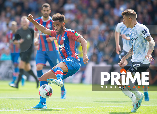 Crystal Palace Andros Townsend during the Premier League match between Crystal Palace and Everton at Selhurst Park, London, England on 10 August 2019. Photo by Andrew Aleksiejczuk / PRiME Media Images.