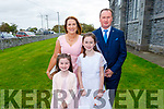 Amy Costello who received her First Holy Communion in Kilmoyley on Saturday.<br /> L to r: Amy, Laura, Maire and William Costello.