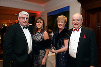 Pictured  at the IHF Ball in the Muckross Park Hotel at the weekend were John and Geraldine O'Dwyer, Waterville with Rachel and Michael Moynihan, Killarney. Photo: Don MacMonagle<br /> <br /> Repro free photo