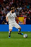 Nacho Fernandez of Real Madrid during La Liga match between Atletico de Madrid and Real Madrid at Wanda Metropolitano Stadium{ in Madrid, Spain. {iptcmonthname} 28, 2019. (ALTERPHOTOS/A. Perez Meca)