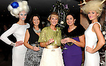 Pictured at Christmas in Killarney Fashion Show in the Aghadoe Heights Hotel Killarney, on Thursday night were from left Rachel Hynes,Tina Griffin, Claire Murphy, Mary Loughran and Mags Kelliher.<br /> <br /> Picture by Sally MacMonagle<br /> <br /> PR PHOTO from CIK