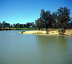 Meander with slip off slope beach, Murray River, Mildura, Australia