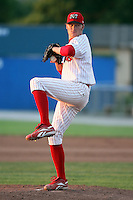 July 8th, 2007:  Brandon Garner of the Batavia Muckdogs, Short-Season Class-A affiliate of the St. Louis Cardinals at Dwyer Stadium in Batavia, NY.  Photo by:  Mike Janes/Four Seam Images