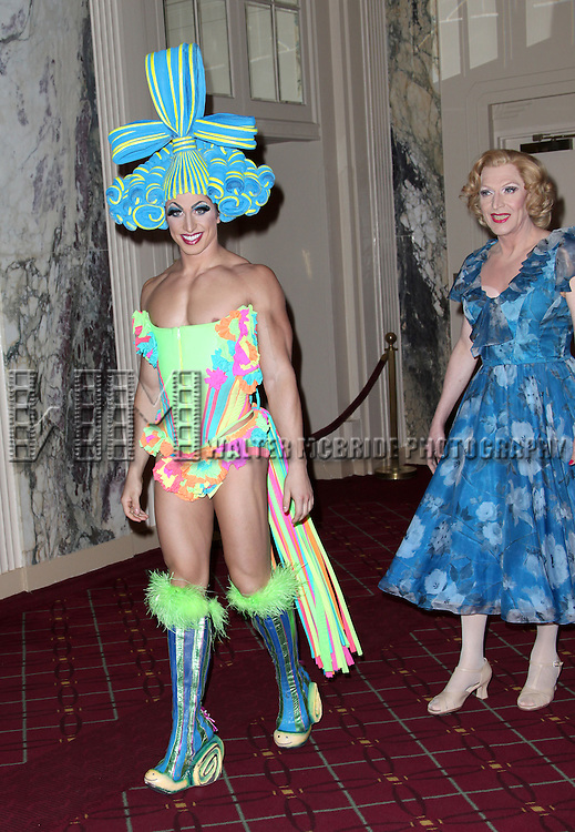Nick Adams, Tony Sheldon from 'Priscilla'.attending Bette Midler's New York Restoration Project Annual Hulaween Gala at the Waldorf Astoria in New York City.