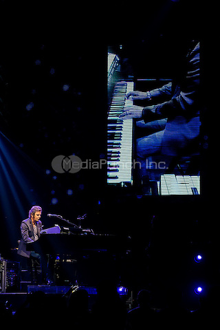 LAS VEGAS, NV - April 29: ***HOUSE COVERAGE*** Jonathan Cain pictured as JOURNEY performs night 1 of their residency at The Joint at Hard Rock Hotel & Casino in Las Vegas, NV on April 29, 2015. Credit: Erik Kabik Photography/MediaPunch
