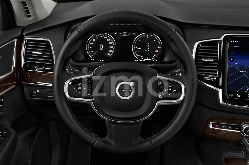 Car pictures of steering wheel view of a 2017 Volvo XC90 Momentum 5 Door SUV Steering Wheel
