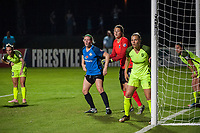 Kansas City, MO - Saturday June 17, 2017: Maegan Kelly, Haley Kopmeyer, Merritt Mathias during a regular season National Women's Soccer League (NWSL) match between FC Kansas City and the Seattle Reign FC at Children's Mercy Victory Field.