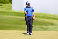Andrew beefy Johnston eyes up his putt on the 18th green during the BMW PGA Golf Championship at Wentworth Golf Course, Wentworth Drive, Virginia Water, England on 26 May 2017. Photo by Steve McCarthy/PRiME Media Images.