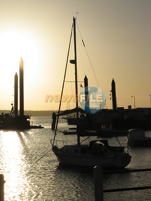 Sun setting over Skerries harbour.Photo:Denise Cleary/www.newsfile.ie.(Photo credit should read Denise Cleary/NEWSFILE).