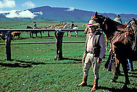 "EDITORIAL ONLY. Yutaka Kimura, a Big Island """"paniolo"""" or Hawaiian cowboy, at Parker Ranch, Waimea"