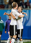 Per Mertesacker and Torsten Frings are celebrating the 2-0 victory against Poland at Euro 2008. Germany-Poland in Klagenfurt (Austria) 06082008.