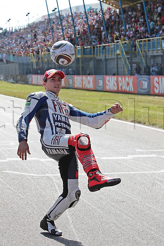 04 10 2008  MotoGP TIM TT Assen Race in the Netherlands, June 26, 2010. Jorge Lorenzo Fiat Yamaha