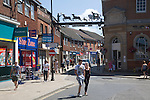 People shopping in town of East Dereham, Norfolk, England