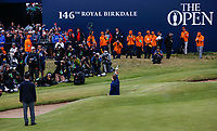 Posing for the world's media and holding the Claret Jug, Jordan Spieth (USA) is the Champion Golfer winning Sunday's Final Round at The 146th Open played at Royal Birkdale, Southport, England.  23/07/2017. Picture: David Lloyd | Golffile.<br /> <br /> Images must display mandatory copyright credit - (Copyright: David Lloyd | Golffile).