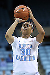 05 November 2014: North Carolina's Hillary Summers. The University of North Carolina Tar Heels hosted the Carson-Newman University Eagles at Carmichael Arena in Chapel Hill, North Carolina in an NCAA Women's Basketball exhibition game. UNC won the game 88-27.