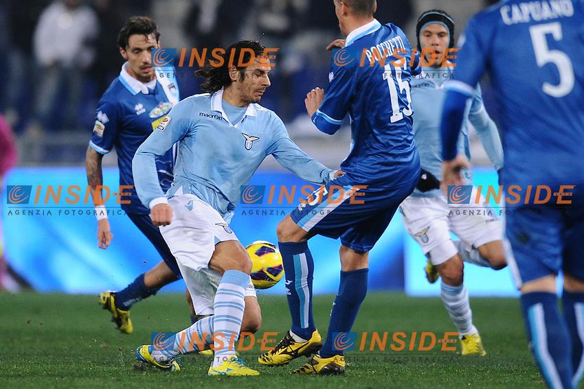 Sergio Floccari Lazio.25/02/2013 Roma.Stadio Olimpico.Football Calcio 2012 / 2013 .Campionato di Calcio Serie A.Lazio vs Pescara.Foto Insidefoto / Antonietta Baldassarre.