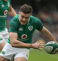 Saturday 10th March 2018 |  Ireland vs Scotland<br /> <br /> Jacob Stockdale during the NatWest 6 Nations clash between Ireland and Scotland at the Aviva Stadium, Lansdowne Road, Dublin, Ireland. Photo by John Dickson / DICKSONDIGITAL