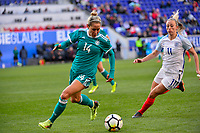 Harrison, N.J. - Sunday March 04, 2018: Anna Blässe during a 2018 SheBelieves Cup match between the women's national teams of the Germany (GER) and England (ENG) at Red Bull Arena.