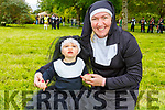 Little Sister Act Alayia O'Mahoney and Theresa Grimes (Listowel) gathering in an attempt to break the Guinness World Record in the Tralee Town Park's fundriaser for the Tralee Rowing Club and Pieta House on Saturday.