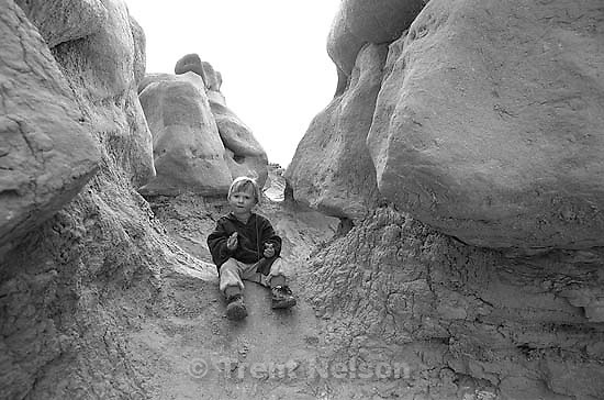 Noah Nelson at Goblin Valley.<br />