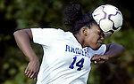 On Thurs Oct 20,2005-<br /> The soccer ball flattings out as North Brunswick's Nicole Green heads the ball from a corner kick during 1st half of play vs Monroe at North Brunswick High School.<br /> (MARK R. SULLIVAN)