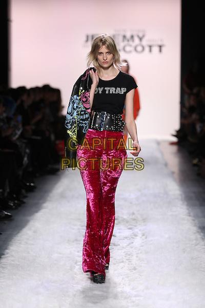 JEREMY SCOTT<br /> New York Fashion Week FW 17 18<br /> in New York, USA February 10, 2017.<br /> CAP/GOL<br /> &copy;GOL/Capital Pictures