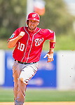 15 March 2016: Washington Nationals infielder Stephen Drew on the base path during a Spring Training pre-season game against the Houston Astros at Osceola County Stadium in Kissimmee, Florida. The Nationals defeated the Astros 6-4 in Grapefruit League play. Mandatory Credit: Ed Wolfstein Photo *** RAW (NEF) Image File Available ***