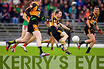 Michael Collins Austin Stacks in action against Tomas Ladden Mid Kerry in the Kerry Senior County Football Final at Fitzgerald Stadium on Sunday.