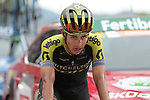 Esteban Chaves (COL) Mitchelton-Scott crosses the finish line in 13th place at the end of Stage 7 of La Vuelta 2019 running 183.2km from Onda to Mas de la Costa, Spain. 30th August 2019.<br /> Picture: Colin Flockton | Cyclefile<br /> <br /> All photos usage must carry mandatory copyright credit (© Cyclefile | Colin Flockton)
