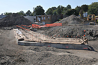 Bridge Abutment Foundation. Construction Progress Photography of the Railroad Station at Fairfield Metro Center - Site visit 3 of once per month Chronological Documentation