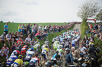 peloton up the steep Gulperberg<br /> <br /> Amstel Gold Race 2014