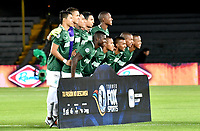 BOGOTÁ - COLOMBIA, 14-01-2019: Los jugadores de Atlético Nacional posan para una foto, antes de partido entre América de Cali y Atlético Nacional, por el Torneo Fox Sports 2019, jugado en el estadio Nemesio Camacho El Campin de la ciudad de Bogotá. / The players of Atletico Nacional, pose for a photo prior a match between America de Cali and Atletico Nacional, for the Fox Sports Tournament 2019, played at the Nemesio Camacho El Campin stadium in the city of Bogota. Photo: VizzorImage / Luis Ramírez / Staff.