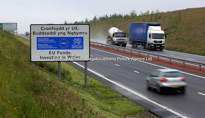"""Pictured: The A465 north of Merthyr Tydfil in south Wales, UK. STOCK PICTURE<br /> Re: Inquest into the death of Louise Hopkins, who died after being hit by a van in Merthyr Tydfil on Bonfire Night in 2015.<br /> Ms Hopkins, 41, suffered fatal injuries after she was hit while walking away from a broken-down vehicle on the A465 between Pant and Dowlais.<br /> Members of her family paid tribute to her, calling her a """"hard working and loving mother""""."""