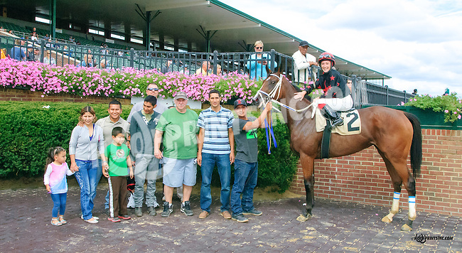 Make Big Money (#2) and Smuggling (#3) both winning in a dead heat winning at Delaware Park on 9/25/15