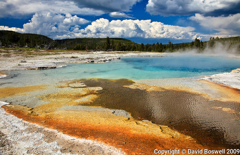 Sapphire Pool, Biscuit Basin in Yellowstone National Park