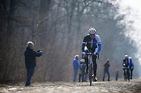 Paris-Roubaix 2013 RECON at Bois de Wallers-Arenberg..Sep Vanmarcke (BEL)