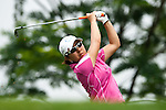 CHON BURI, THAILAND - FEBRUARY 17:  Mika Miyazato of Japan tees of on the 12th hole during day two of the LPGA Thailand at Siam Country Club on February 17, 2012 in Chon Buri, Thailand.  Photo by Victor Fraile / The Power of Sport Images