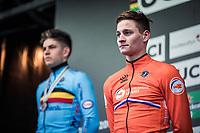 Mathieu Van der Poel (NED), new World Champion Men's Elite 2019 <br /> <br /> Men's Elite race <br /> <br /> UCI 2019 Cyclocross World Championships<br /> Bogense / Denmark<br /> <br /> <br /> ©kramon