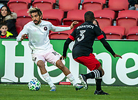 WASHINGTON, DC - MARCH 07: Chris Odoi-Atsem #3 of DC United defends against Rodolfo Pizzarro #10 of Inter Miami during a game between Inter Miami CF and D.C. United at Audi Field on March 07, 2020 in Washington, DC.